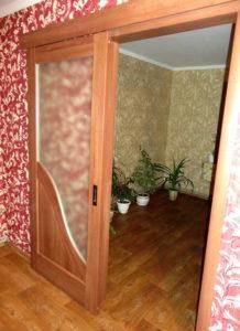 Двери раздвижные Амата золотая ольха