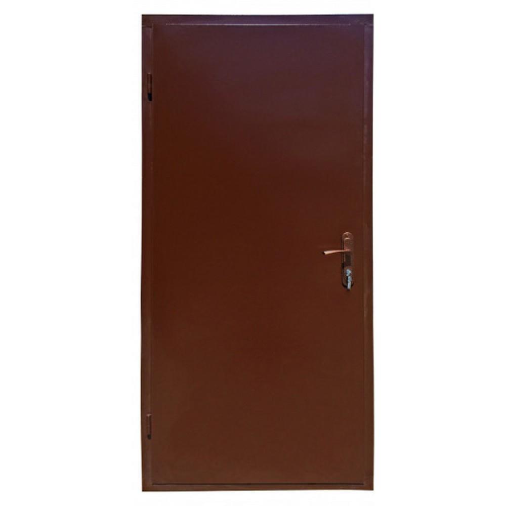 Входные двери железные лист металла 2 мм. коричневые 1 замок, наличник в Подарок!