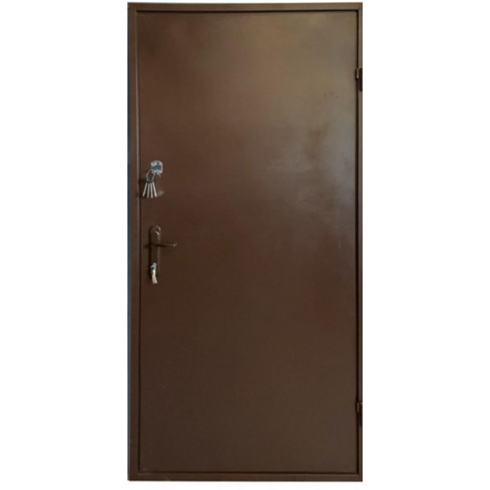 Входные двери железные лист металла 2 мм. коричневые 2 замка, наличник в Подарок!