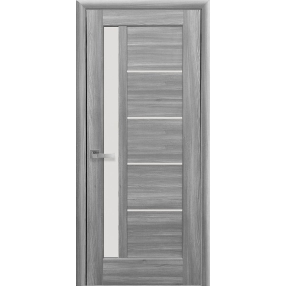 Межкомнатные двери Новый Стиль Грета (со стеклом сатин) 2000х900 Бук пепельный