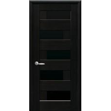 Межкомнатные двери Новый Стиль Пиана стекло blk 2000х600 Венге