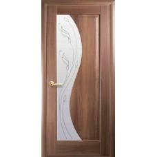 Межкомнатные двери Новый Стиль Эскада Р2 (со стеклом сатин) 2000х800 Золотая ольха