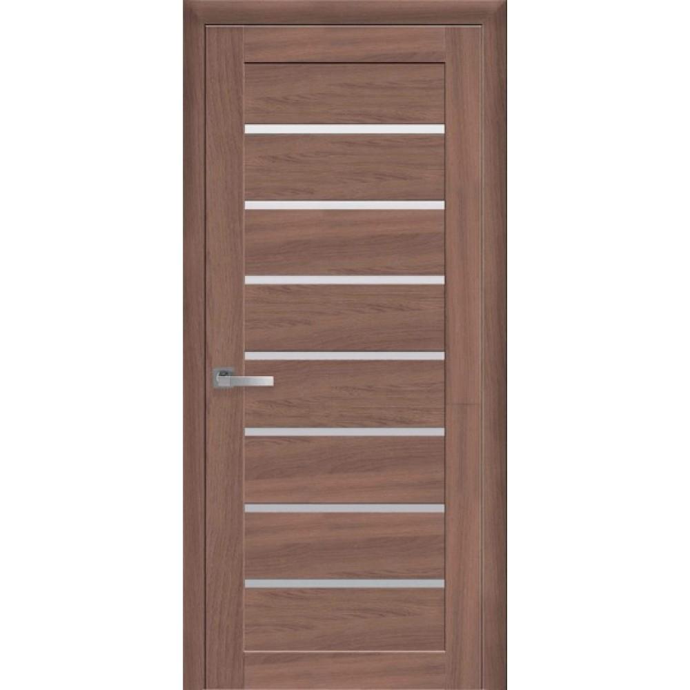 Двери межкомнатные Новый Стиль Леона стекло сатин 2000х900 Ольха 3D