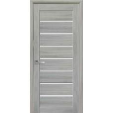 Двери межкомнатные Новый Стиль Леона стекло сатин 2000х900 Ясень патина
